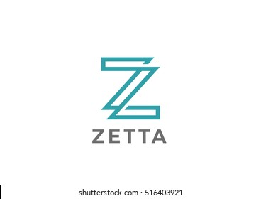 Letter Z Logo design vector template Linear style. Creative Luxury Fashion Corporate Business Logotype concept.