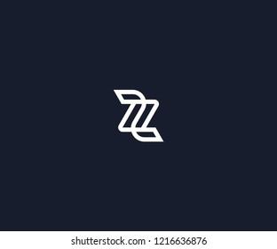 letter Z monogram logo design template
