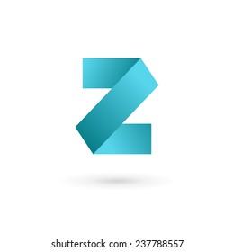 Letter Z number 2 logo icon design template elements