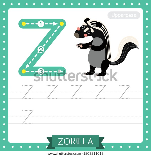 Letter Z Uppercase Cute Children Colorful Stock Vector (Royalty Free)  1503511013