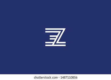 Letter ZE EZ Z E initial logo design. Creative Minimal luxury emblem design. Universal elegant icon. Premium business finance logotype