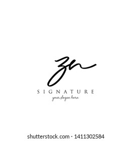 Letter ZN Signature Logo Template - Vector