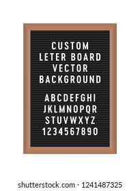 Letterboard Isolated Vector Illustration Background Object