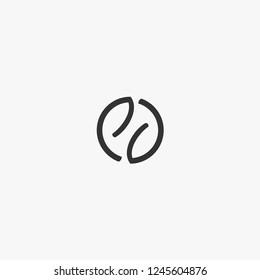 letterhand PJ logo design grey