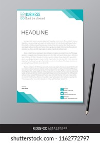 Letterhead design template and mockup minimalist style vector. Design for business or letter layout, brochure, template, newsletter, document or presentation and other.