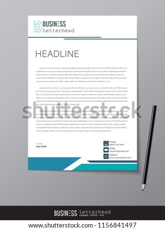 Letterhead design template mockup minimalist style stock vector letterhead design template and mockup minimalist style vector design for business or letter layout friedricerecipe Image collections