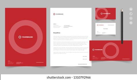 Letterhead Design Template Stationery Kit