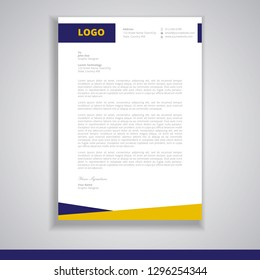 letterhead design template vector