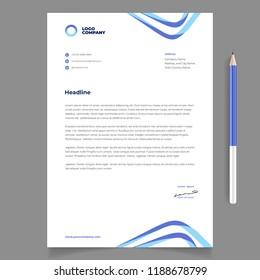 letterhead template for business eps 10 vector editable