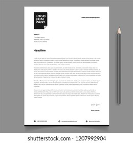 letterhead template design minimalist simple