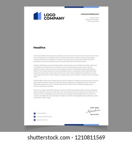 letterhead template design minimalist simple