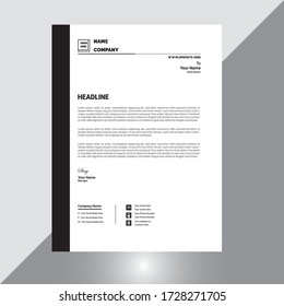 letterhead template design minimalist vector design .eps
