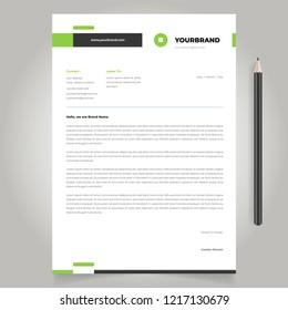 letterhead template design simple minimalist