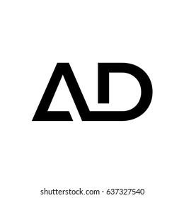 Lettering AD font logo