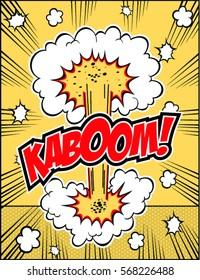 Lettering boom comic text.Vector illustration.