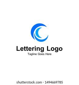 Lettering C Vector Logo Inspirations