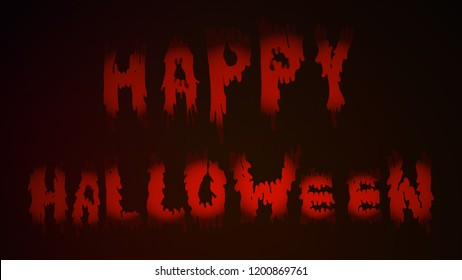 Lettering to celebrate Halloween with scary spreading slimy smeared letters bloody smudges visible on a beautiful and terrible background. Use for poster,postcard, print and simply thematic decoration