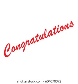 lettering congratulations vector