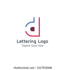 Lettering D Vector