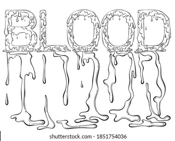 Coloring Page Blood Images Stock Photos Vectors Shutterstock