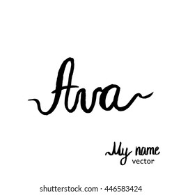 ava coloring pages | Ava Name Images, Stock Photos & Vectors | Shutterstock
