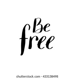 lettering freedom quote