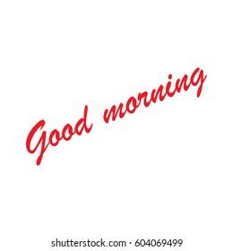 lettering good morning vector