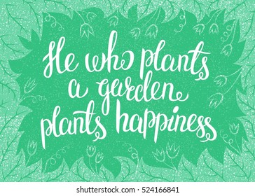 Royalty,Free To Plant a Garden Quotes Stock Images, Photos