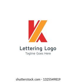 Lettering K Vector