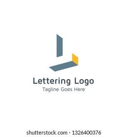 Lettering L Vector