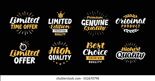 Lettering limited time offer, Edition, Genuine, Original product, High quality, Best choice, Premium