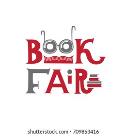 Lettering logo for book fair