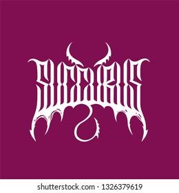 Lettering logo succubus 2
