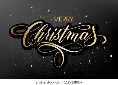 Lettering Merry Christmas and Happy New Year