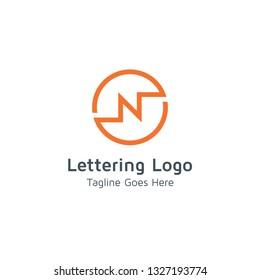 Lettering N Vector