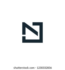 Lettering NJ / JN logo design