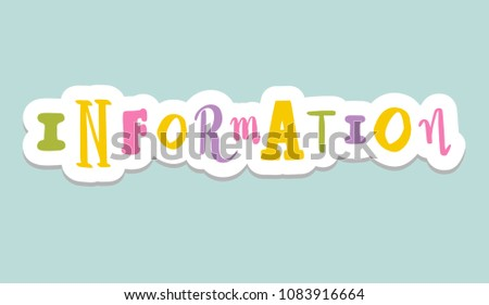 lettering on background information hand sketched stock vector