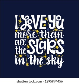 Royalty Free I Love You More Than All The Stars Images Stock Photos