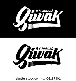 Lettering quotes motivation about life. Siwak it's sunnah. - Vector