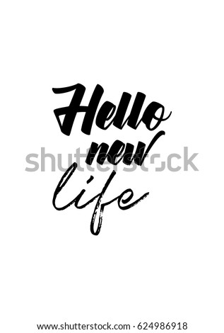 New Life Quotes Enchanting Lettering Quotes Motivation About Life Quote Stock Vector Royalty