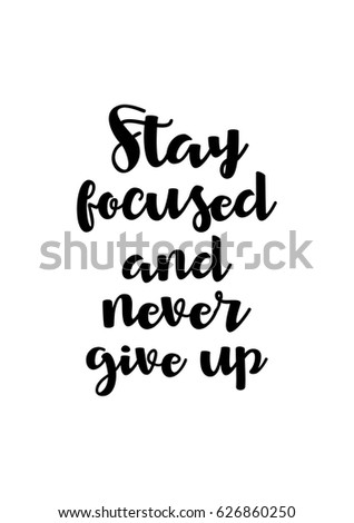 Lettering Quotes Motivation About Life Quote Stock Vector Royalty Delectable Never Give Up On Life Quotes