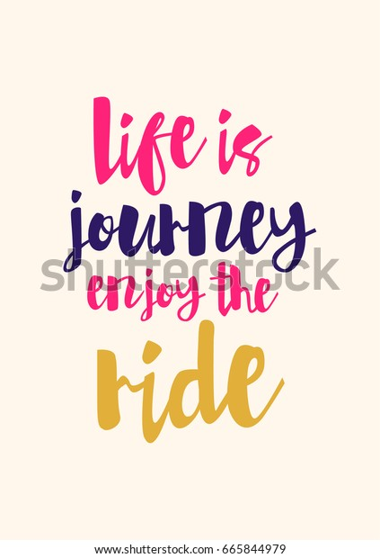 Lettering Quotes Motivation About Life Quote Stock Vector ...