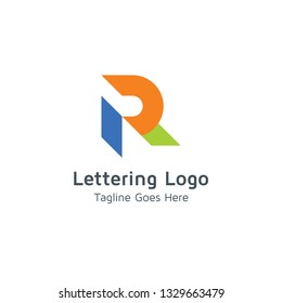 Lettering R Vector