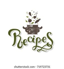 Lettering Recipe Sign Images, Stock Photos \u0026 Vectors