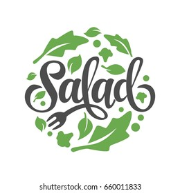Lettering Salad With vegetable ornament