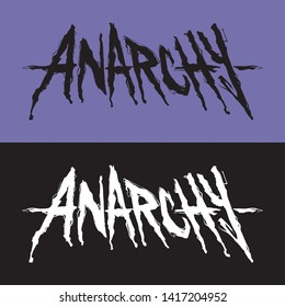 Lettering with single word ANARCHY