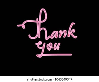 Lettering of thank you. vector