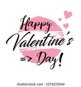 Lettering valentine's day background