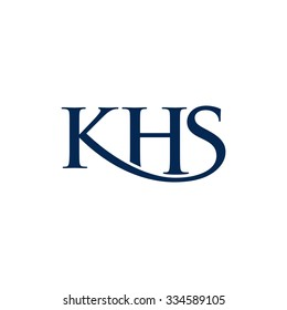 lettermark of k, h, and s. logo template.