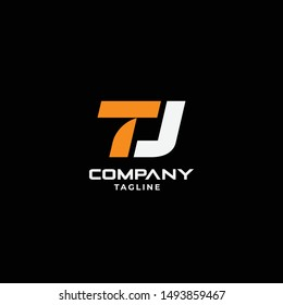 lettermark TJ initial logo icon vector template